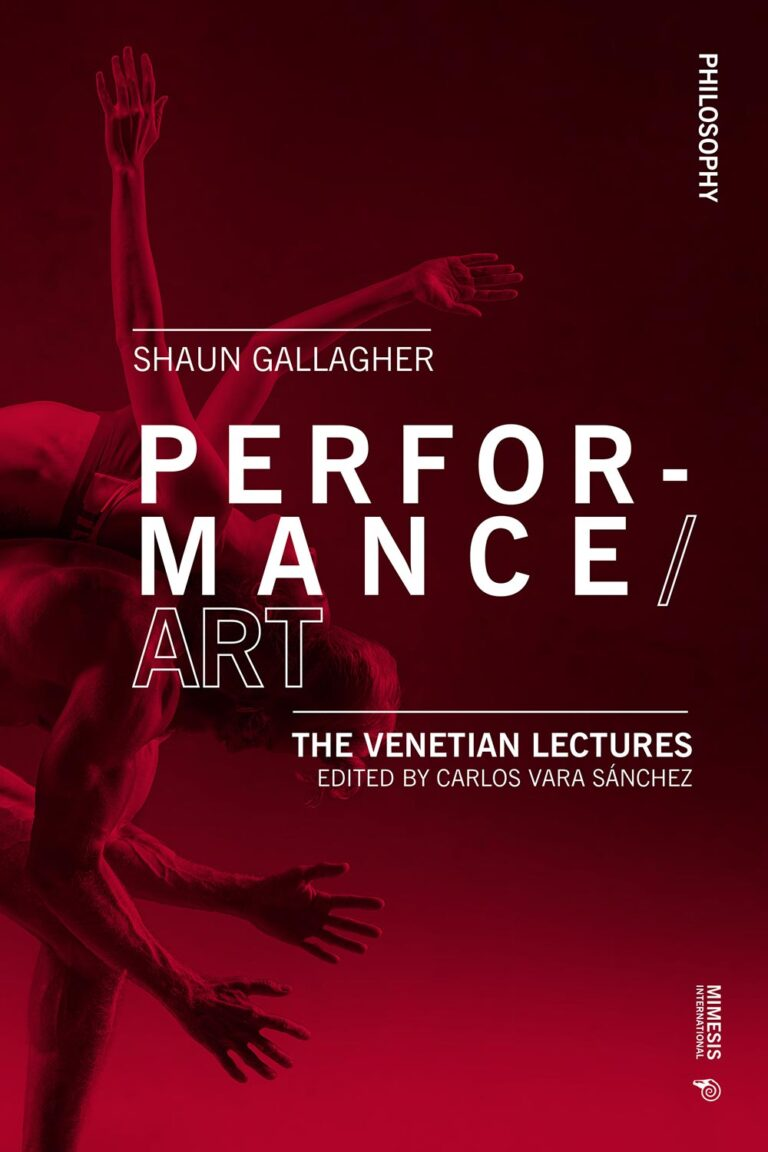 Performance/Art. The Venetian Lectures