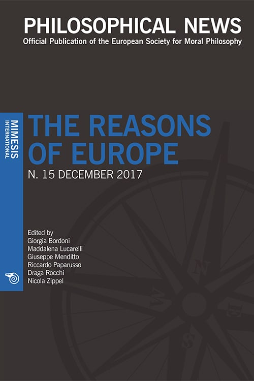 Philosophical News 15 – The reasons of Europe – December 2017